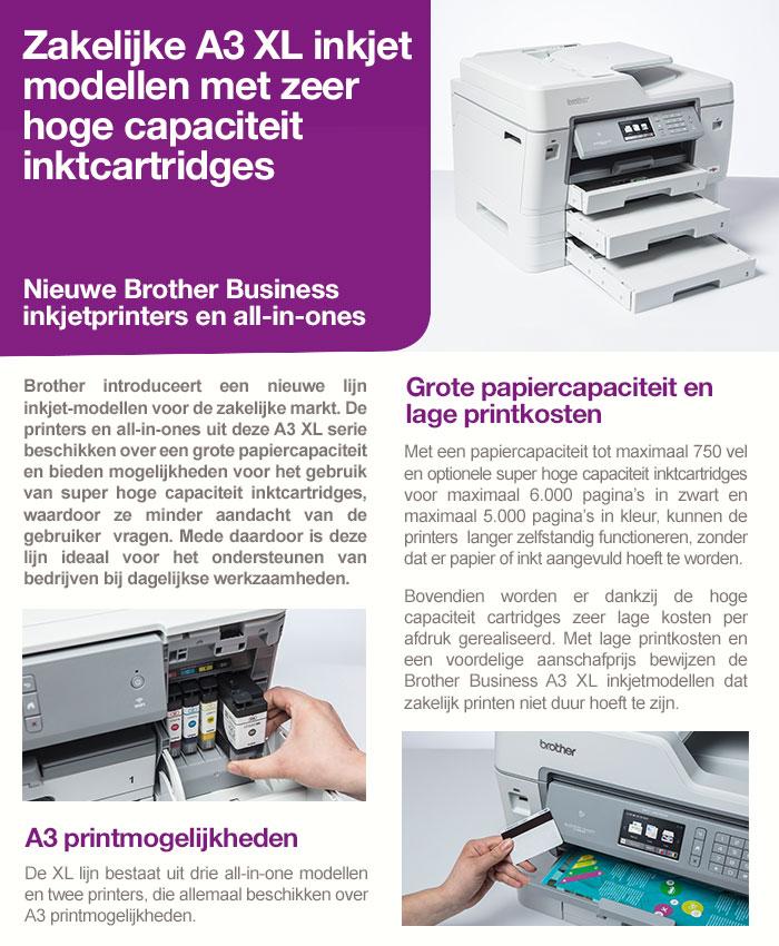 Zakelijke A3 inkjet modellen met zeer hoge capaciteit  inktcartridges